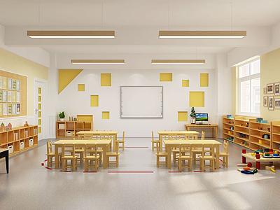 幼兒園班級模型3d模型