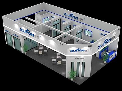 現代展廳模型3d模型