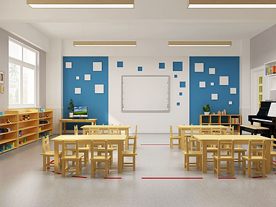 幼兒園教室模型3d模型