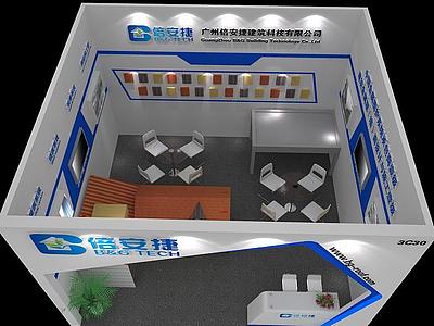 電子展廳模型3d模型
