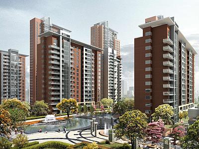 城市建筑規劃模型3d模型