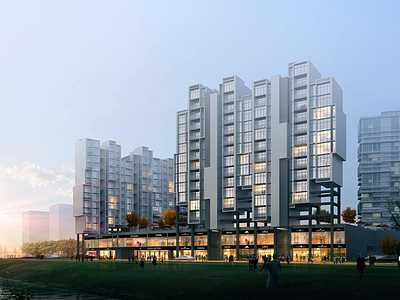 城市戶外建筑3d模型