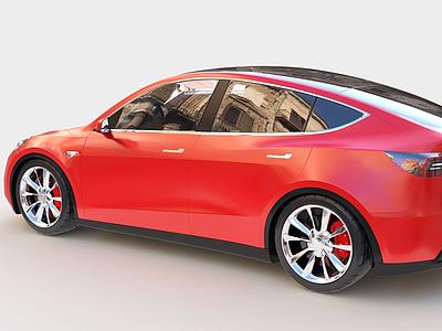 3d特斯拉Model-Y汽車模型