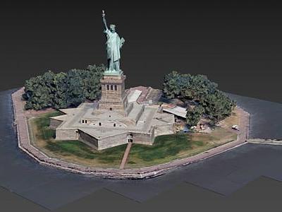 自由女神像3d模型