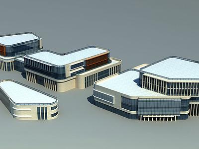 3d商業綜合體模型