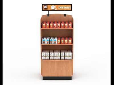 3d超市飲品展示架模型