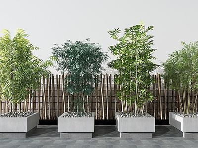 現代綠植竹子模型3d模型