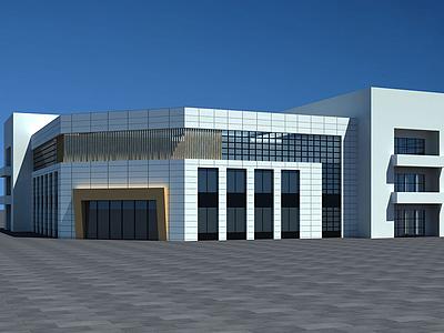 C4D圖書館3d模型模型