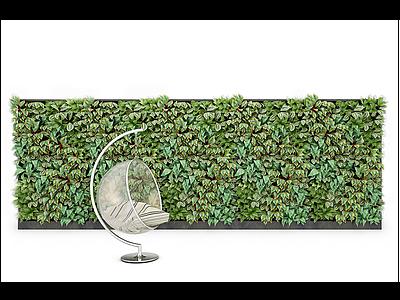 3d現代裝飾植物墻模型