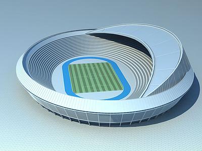 現代體育館模型3d模型