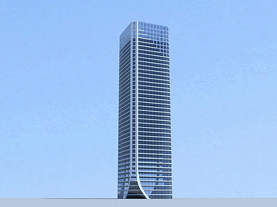 3d現代商業辦公大樓模型