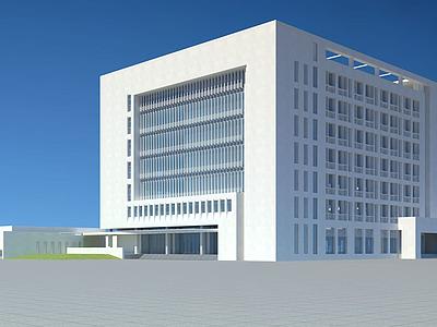 3d城市辦公大樓模型