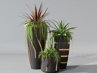 小清新綠植模型