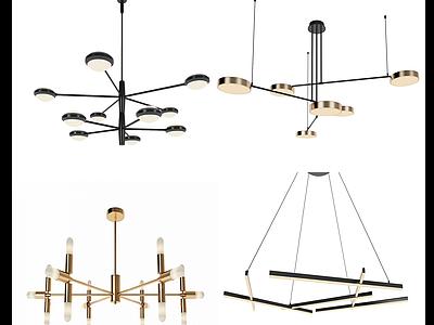 現代工藝吊燈模型3d模型