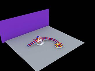 卡通冰滑梯模型