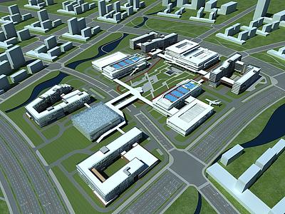 學校辦公樓規劃模型
