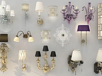 歐式壁燈模型