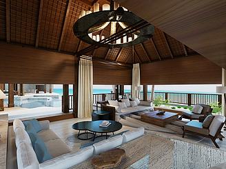 東南亞風格休閑度假酒店模型