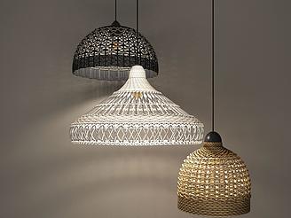 現代編織吊燈模型