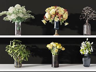 現代裝飾植物模型
