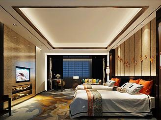 東南亞風格酒店模型