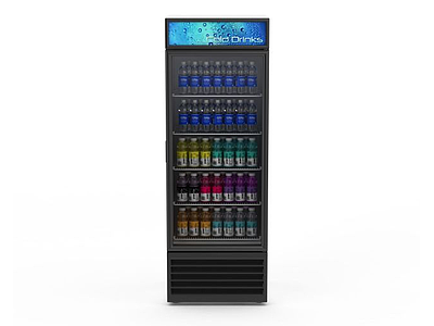 3d超市飲品冷藏柜免費模型