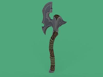 3d斧頭模型