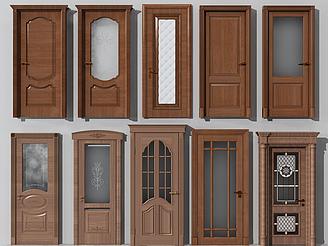 歐式木門組合模型