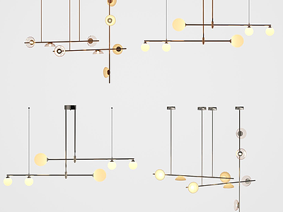 北歐簡約時尚吊燈模型3d模型