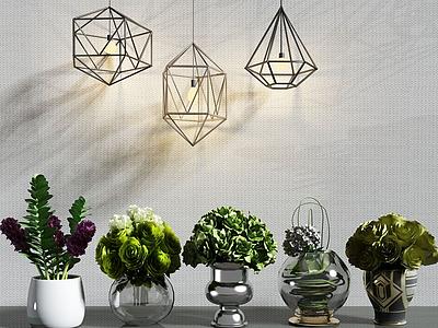 現代花瓶裝飾品擺設模型3d模型