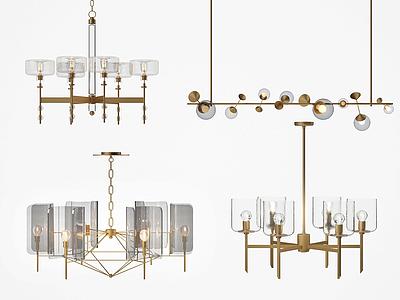 現代玻璃吊燈模型3d模型