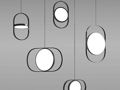 北歐工藝吊燈模型3d模型