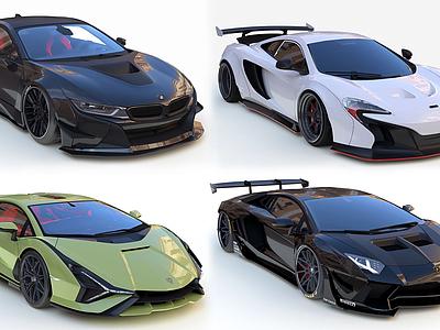 3d現代豪華超級跑車模型