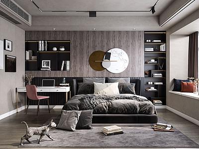 現代奢華臥室3d模型