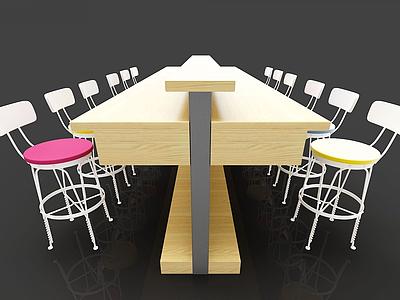 現代火鍋店桌椅模型3d模型