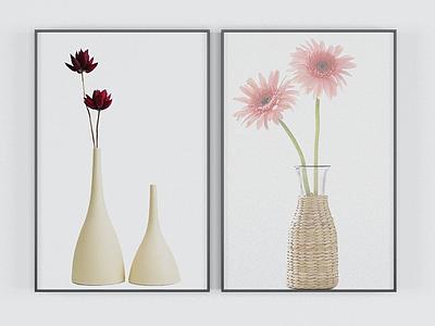 現代花瓶裝飾畫模型3d模型