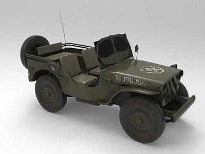吉普車模型3d模型