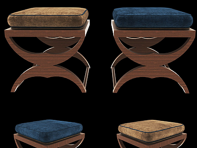 現代休閑凳模型3d模型