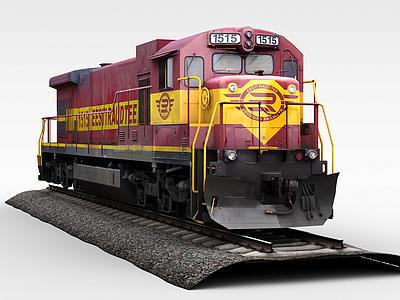 3d紅色<font class='myIsRed'>火車</font>模型