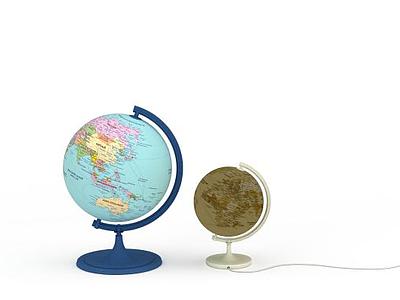 3d簡約<font class='myIsRed'>地球</font>儀免費模型