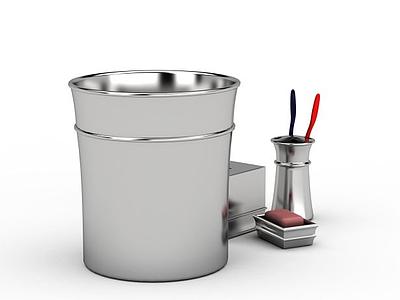不銹鋼垃圾桶模型