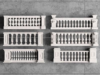 歐式大理石材欄桿模型3d模型