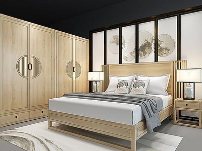 新中式家具組合3d模型
