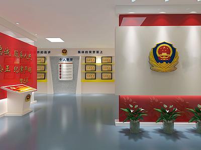 現代風格榮譽展廳模型3d模型