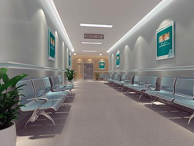 現代風格醫院護士站模型3d模型