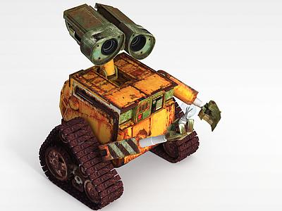 3d機器人瓦力車模型