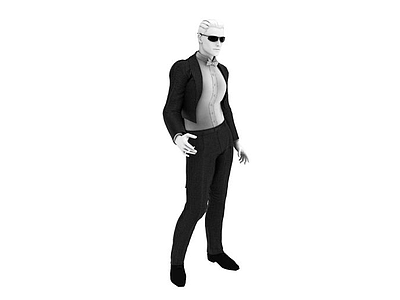 3d男性塑料模特免費模型