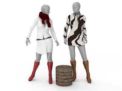 3d商場塑料模特免費模型