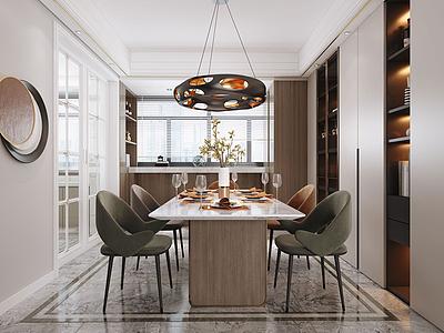 現代客餐廳模型