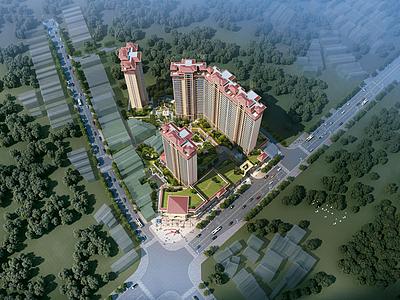 小區樓盤建筑模型